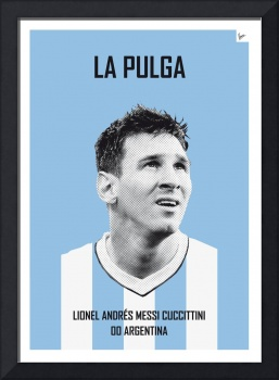 My Messi soccer legend poster