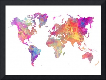 Map of the world pastel