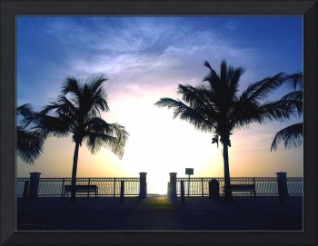 Tropical Sunrise Seascape Vero Beach Florida B1