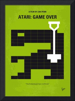No582 My ATARI GAME OVER minimal movie poster