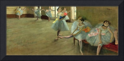 Dancers in the Classroom, c.1880 (oil on canvas)