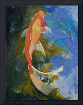 Butterfly Koi Painting