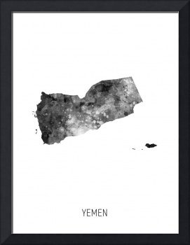 Yemen Watercolor Map