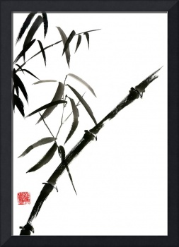 Bamboo painting sumi-e japanese tree chinese water