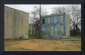 Blue House in Camden New Jersey