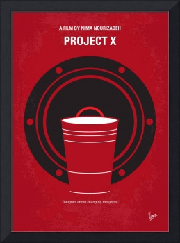 No393 My PROJECT X minimal movie poster