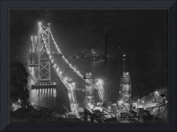 San Francisco Bay Bridge under construction