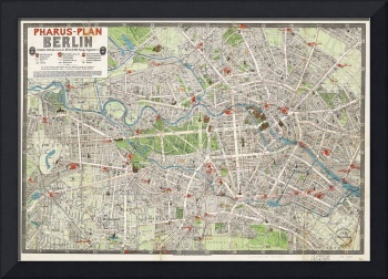 Vintage Map of Berlin Germany (1905)