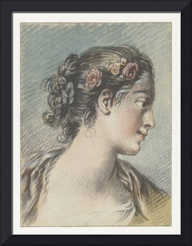 Bust of a young woman, Louis Marin Bonnet, after F