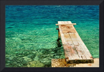 Wooden pier over beautiful adriatic sea