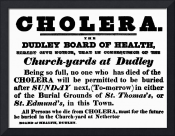Dudley Board of Health poster announcing the buria