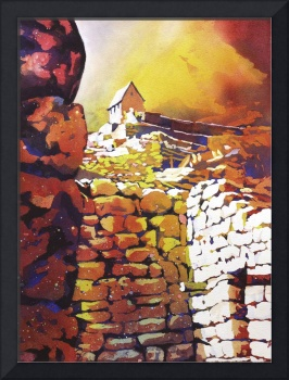 Machu Picchu Hut of the Caretaker24x33