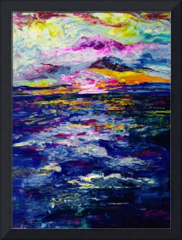 Stormy Sunset Oil Painting