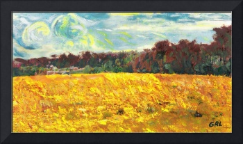 ORIGINAL FINE ART DIGITAL SUMMER FIELDS FARMLANDS
