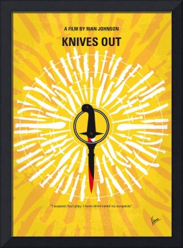 No1155 My Knives Out minimal movie poster