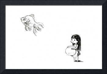 Girl and a Fish