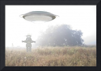 UFO in the mist.