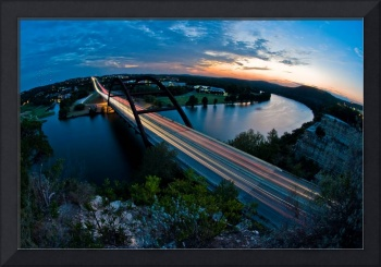 Austin 360 Bridge at Sunset