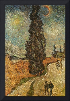 van Gogh 1889 Road with Cypresses - PD Image