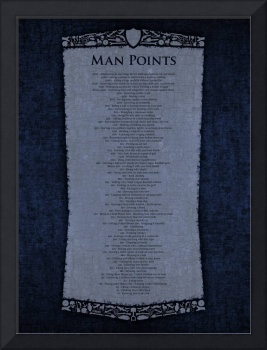 Man Points Poster - Midnight