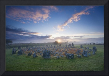 Sunrise Over Beaghmore Stone Circles, County Tyron
