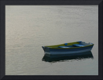 Blue and Yellow Boat