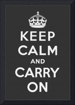 Grey Keep Calm And Carry On