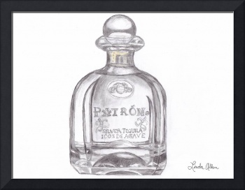 Patron Bottle Pencil Sketch