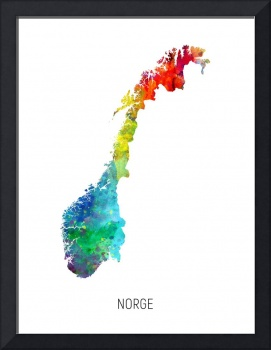 Norge Watercolor Map
