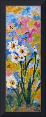 Early Daffodils Impressionist Oil Painting