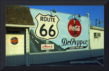 Route 66 - Mural with Shield