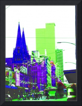 Abstracted Melbourne CBD