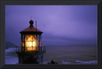 Lighthouse At Heceta Head, Oregon, Usa