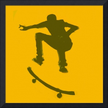 Skateboarder 2 . gold brown (c)