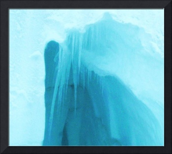Blue hue ice cave