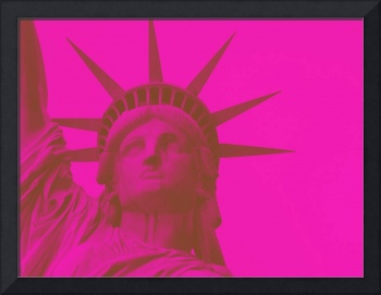 statue of liberty in pink 2
