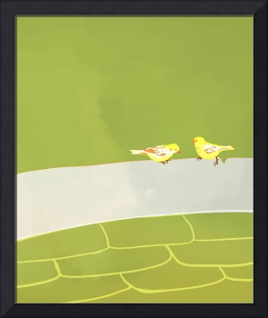 two bird paper background