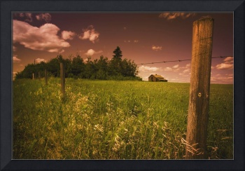 Alberta, Canada, An Old Barn And Fence