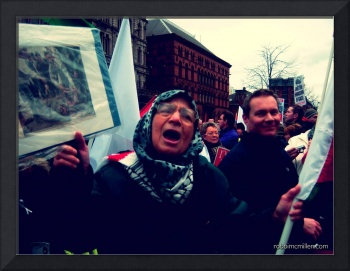 Freedom For Palestine Protest: A Woman's Tears