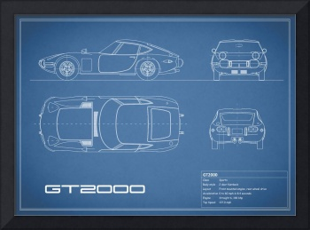 Stunning blueprint artwork for sale on framed prints toyota gt2000 blueprint malvernweather Gallery