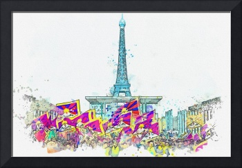 Free Tibet Demostration in Paris, France 2 -  wate