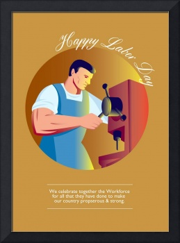 Happy Labor Day Workforce Celebration Retro