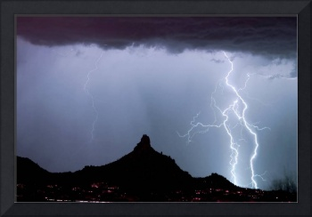 Lightning Thunderstorm at Pinnacle Peak AZ