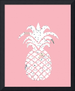 Confetti Pineapple Pink Background