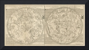 Fer and La Hire's Celestial Planisphere 1705