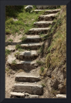 Dirt and Stone Stairs
