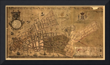 Map of the City of New York from an actual survey