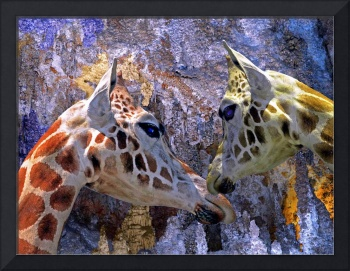 Blue Cave Giraffes Fantasy for Children