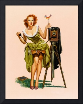 Vintage Camera Pin-up Girl