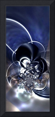 Abstract Art Metal Reflect Blue
